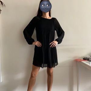Black pleated Mango dress